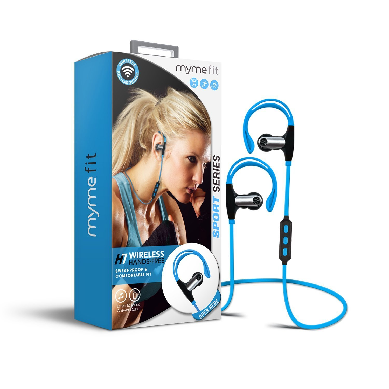 MyMe FIT 47124 H7 Bluetooth Wireless Earphones -  Blue