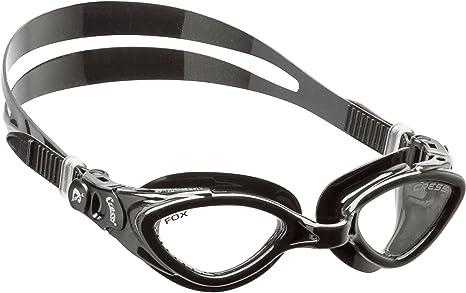 d11470c5fb3e Cressi Occhialini da Nuoto a Oculari Separati, Antigraffio, Anti UV,  Nero/Lenti