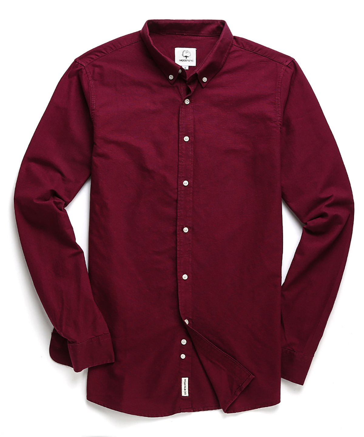 MOCOTONO Men's Oxford Long Sleeve Button Down Casual Dress Shirt