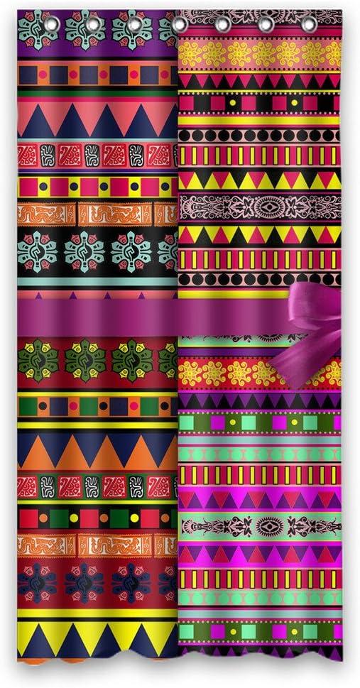 Dalliy Modelo azteca arte africana disfraz cortina de la ducha ...