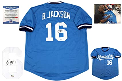 brand new 7352a 172fb Bo Jackson Autographed Signed Jersey - Beckett Authentic ...
