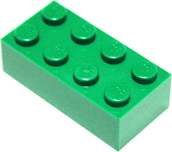 50 to 500 Pieces LEGO Green Plate 2x6