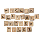 Prochive 200 x Wooden Scrabble Letters Tiles Craft Jewellery Making Complete Set Scrapbooking Kit for Crafts, Pendants, Spelling