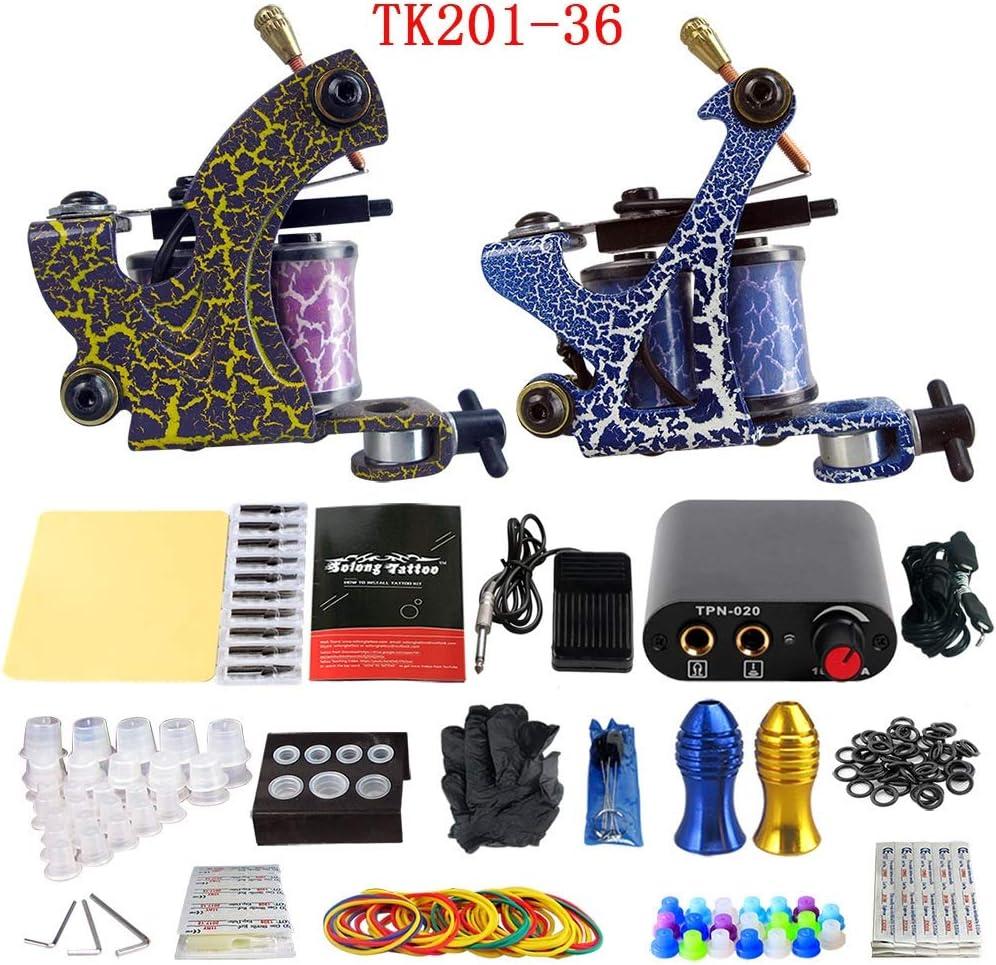 Zwen Tattoo Machine Gun Professional 1 Juego Equipo Completo Cable ...
