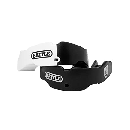 Battle 2-Color Mouthguard (2-Pack), Black, Youth