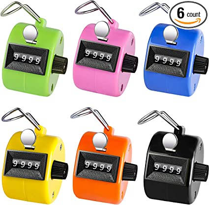 4 Digits Electronic Digital Tally Counter One Button Hand Clicker Mechanical