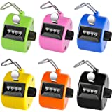 KTRIO Pack of 6 Color Hand Tally Counter 4-Digit Tally Counters Mechanical Palm Counter Clicker Counter Handheld Pitch Click Counter Number Count for Row, People, Golf & Knitting, Assorted Colors