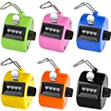 KTRIO Pack of 6 Color Hand Tally Counter 4-Digit Tally Counters Mechanical Palm Counter Clicker Counter Handheld Pitch…