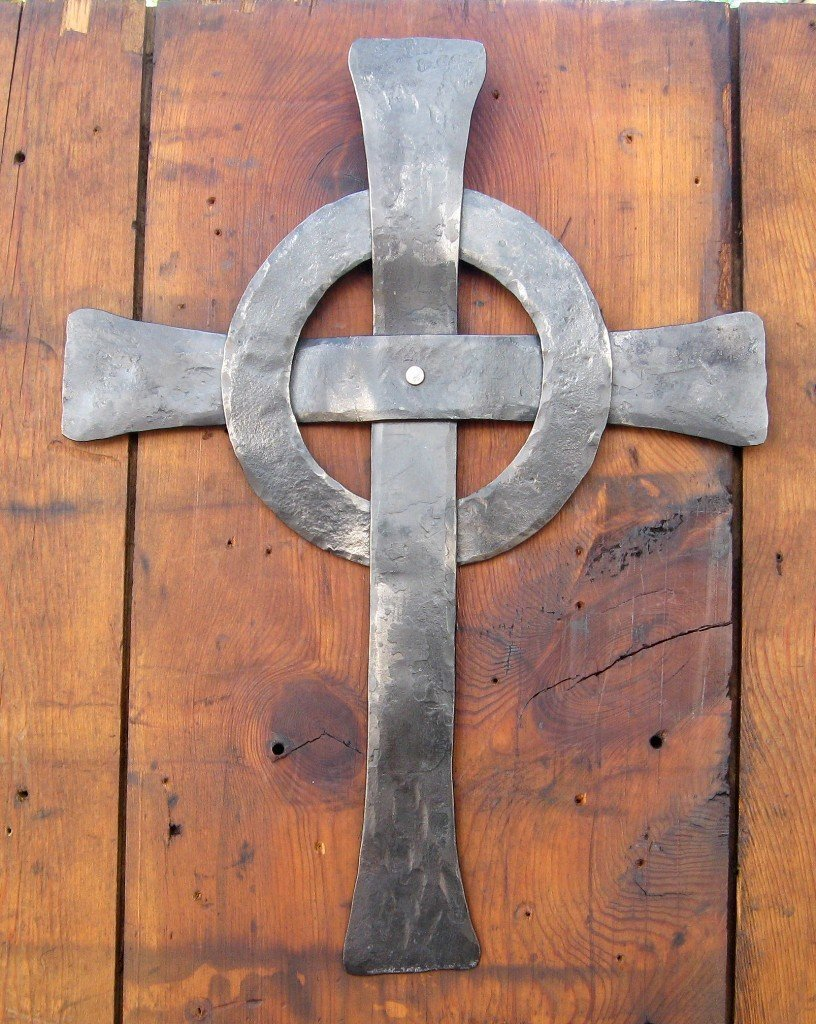 Celtic Cross Hand Forged in Iron by Wayfarer Forge Blacksmith