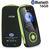 Mp3 Music Player with Bluetooth 16GB Support up to 64GB-Green by FULITY