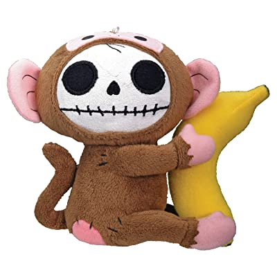 SUMMIT COLLECTION Furrybones Monkey Munky Holding onto Banana Small Plush Doll: Home & Kitchen