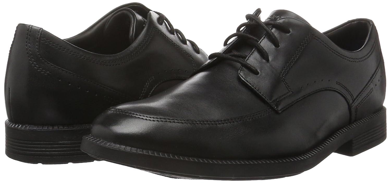 Rockport Dressports 2 Lite Cap Toe - Zapatos Hombre, Negro - Negro (Negro Piel), 42.5 EU