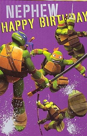 Nephew Teenage Mutant Ninja Turtles Birthday Card Amazon