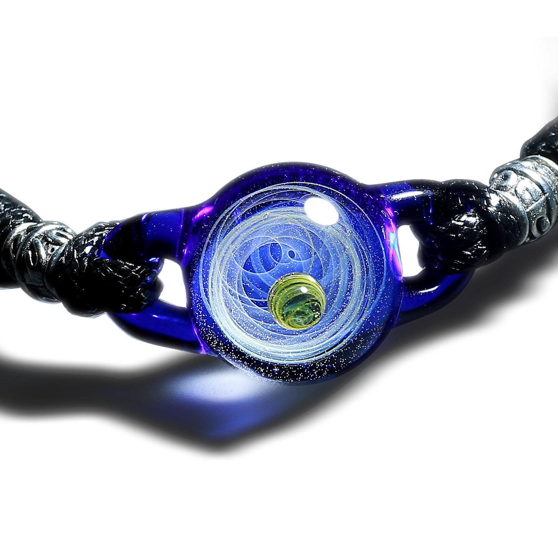 Pavaruni Galaxy Ball Bracelet, Universe Glass Jewelry, Space Cosmos Design,Birthday (Thalassa)
