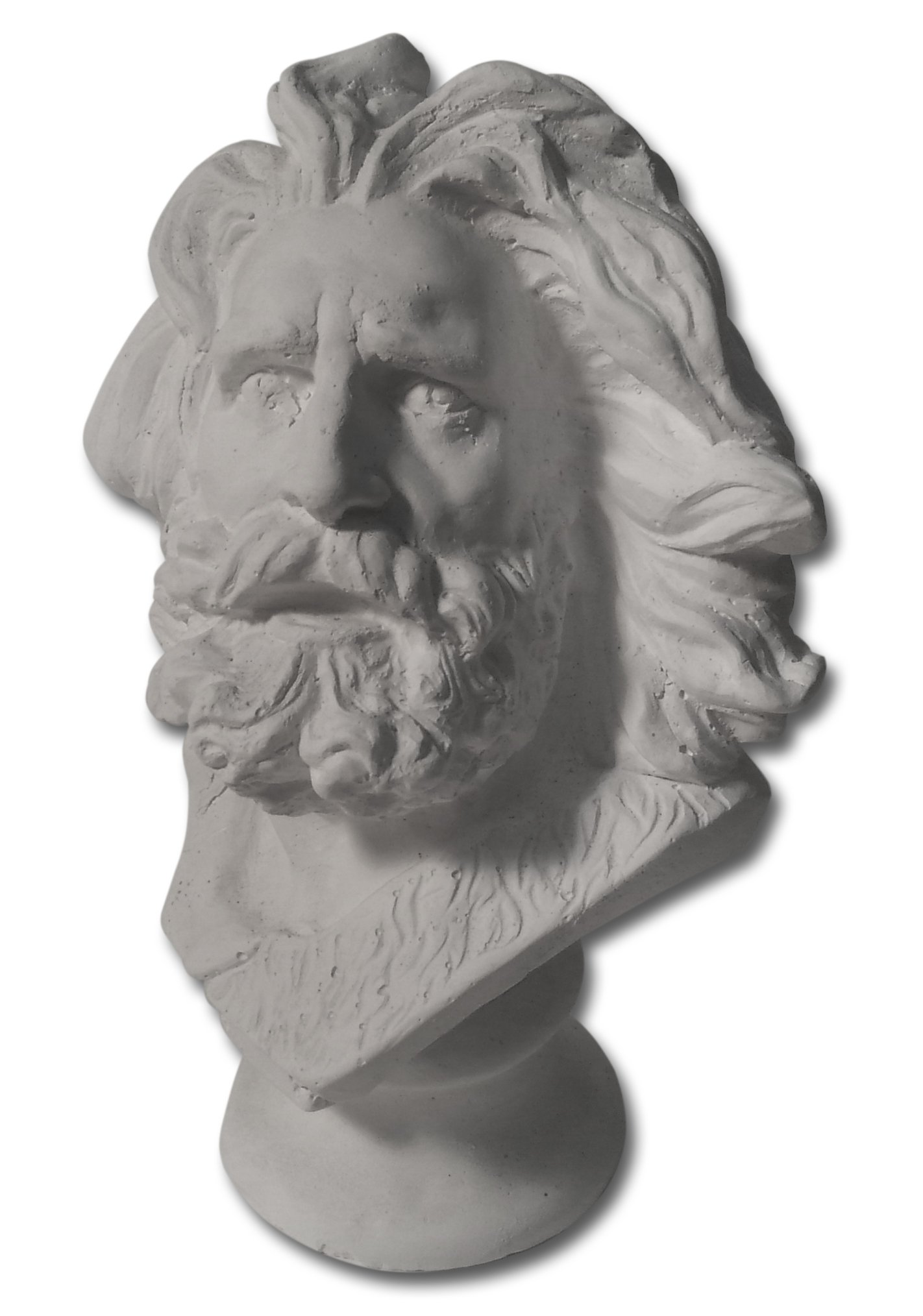 Torino Mini Marseilles and or Moses Head Plaster Cast Mannequin, Great for Artists, Artistic Piece, White, 4'' X 4.5'' X 7'' by Torino
