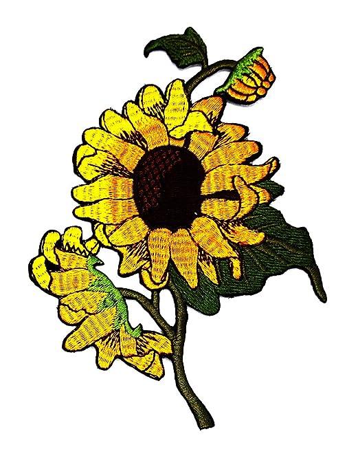 Rabana amarillo girasol Cartoon Kids niños Cute Animal parche para ...
