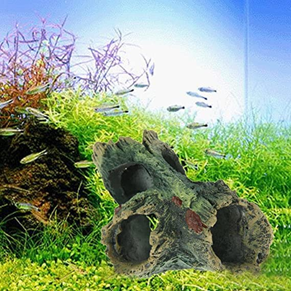 demiawaking tronco de madera de simulación acuario peces tanque adornos árbol Driftwood decoración oculta casa cueva: Amazon.es: Productos para mascotas
