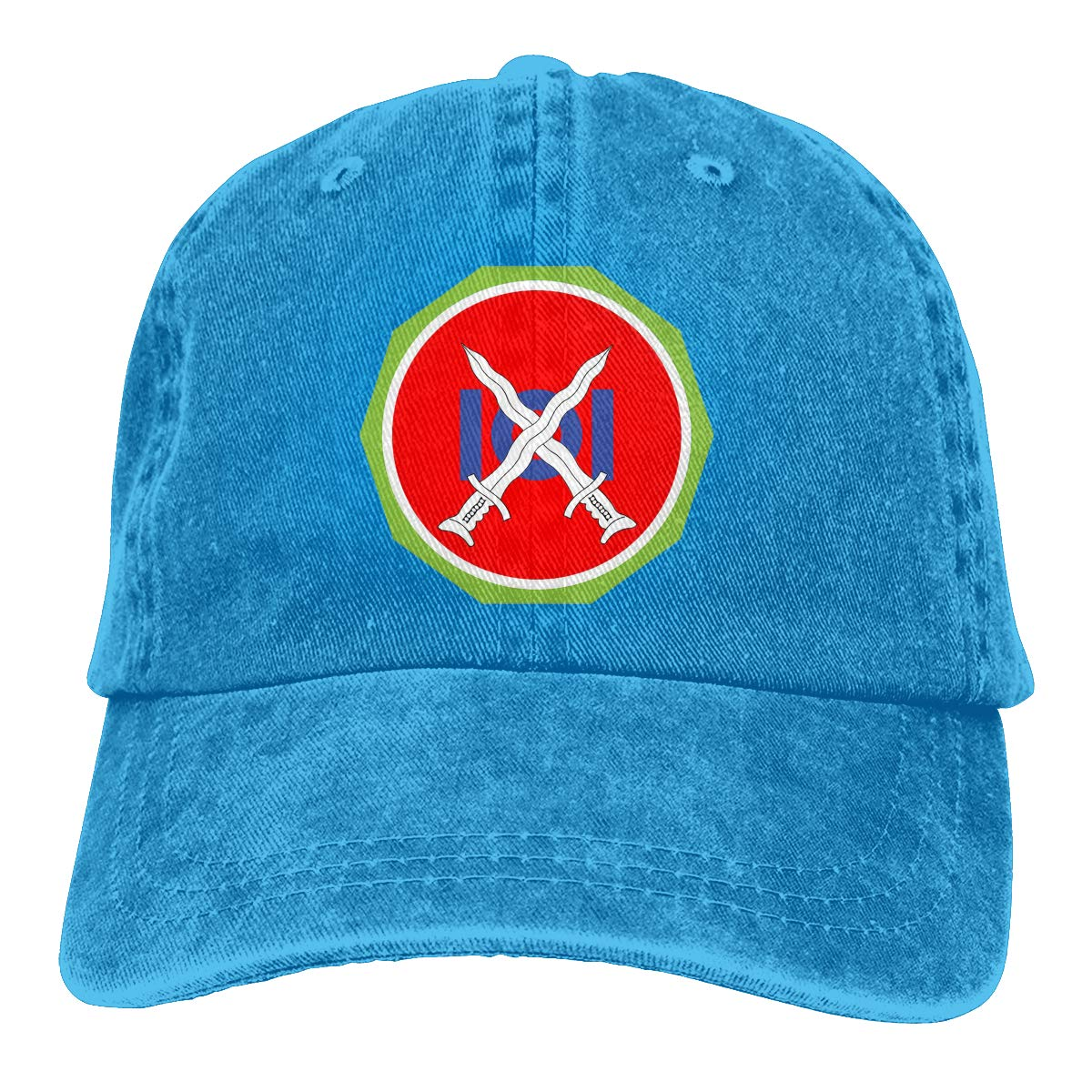 Sajfirlug 101st Philippine Division Fashion Adjustable Cowboy Cap Denim Hat for Women and Men