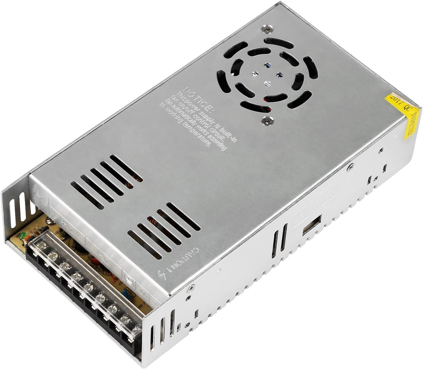 NEWSTYLE Fuente Alimentacion Transformador Interruptor DC 12V 30A 360W para CCTV, Radio, Proyecto de Computadora (24V 15A)