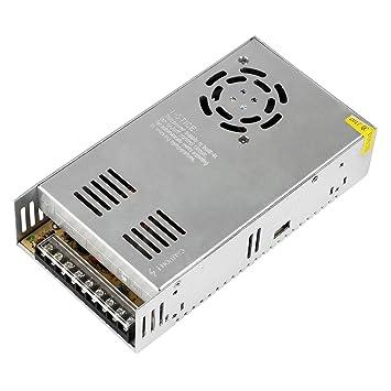 NewStyle Fuente Alimentacion Transformador Interruptor 110/220V DC 24V 15A para CCTV, Radio, Proyecto de Computadora, Led Light Strings e Impresora 3D: ...