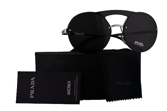 c3bf4a51d Prada Authentic Sunglasses PR65TS Silver w/Grey Lens 1BC5S0 SPR65T PR 65TS  SPR 65T (36mm): Amazon.co.uk: Clothing