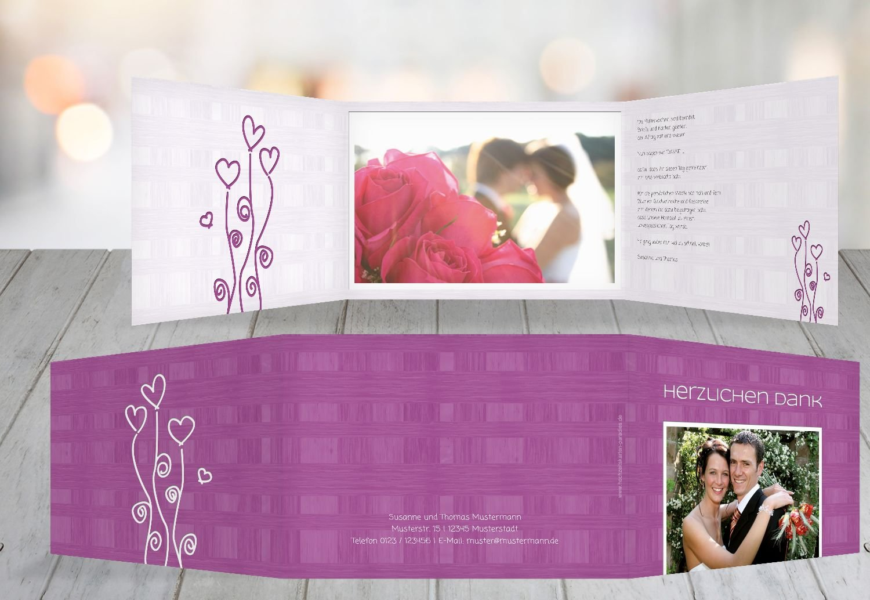 Wedding thank you cards love dream purple 5 karten amazon co uk kitchen home