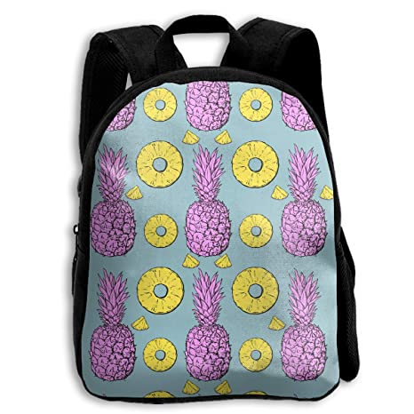 9d4a7fcaa0be Amazon.com: KCBover Pastel Pineapple Pattern Children Backpack Cute ...