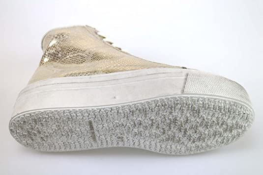 Zapatos Mujer Madame Pigalle 37 EU Sneakers Textil Platino AM784 xL4bJ4LjEP
