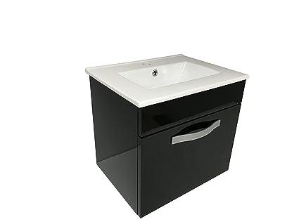 starbath - Set mobile da bagno sospeso STOL 50 X 38 cm Nero + lavabo ...