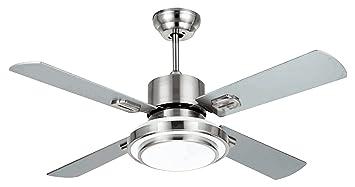 Plafoniere Con Pale : Ventilatore da soffitto con telecomando e luce pale diametro