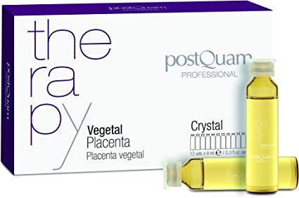 Postquam - Therapy   Placenta Vegetal Postquam Crystal para Combatir la Caida de Pelo - 12 Ampollas x 9 ml
