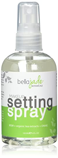 Makeup Setting Spray With Organic Green Tea, Msm And Dmae   A Must For Your Natural Anti Aging Skincare Routine   Large 4 Ounce Bottle (1 Pack) by Pure Bliss