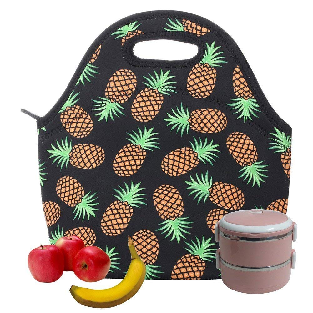per trasportare cibo Borsa termica per il pranzo viaggi per bambini picnic Abyelike con cerniera isolamento termico scuola Blue in neoprene impermeabile