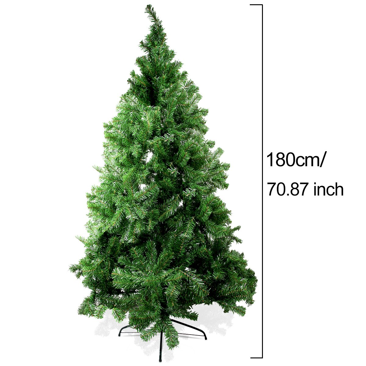 Aszune Christmas Pine Tree 6ft Artificial Xmas Tree with 750 Branches and Solid Metal Legs