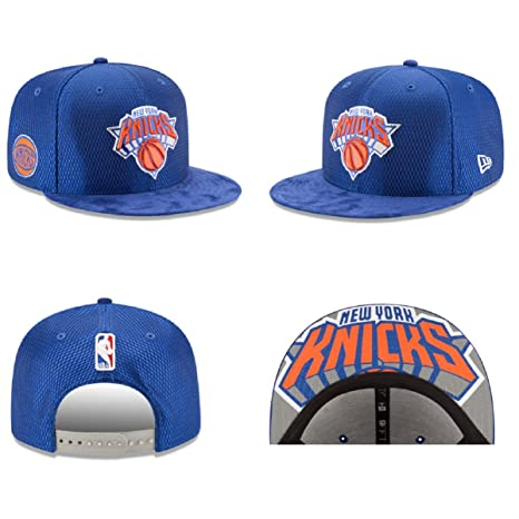 3bc1b72e Amazon.com : New York Knicks New Era 2017 NBA Draft Official 9FIFTY  Snapback Hat -Blue : Sports & Outdoors