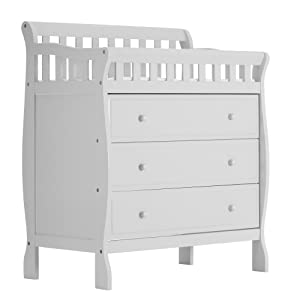 Dream On Me Marcus Changing Table and Dresser, White