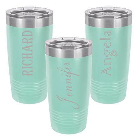 Personalized Tumbler 20 Oz With Clear Lid Different Designs Engraved Travel Cups Double Wall Vacuum Insulated Unique Gift For Him And Her
