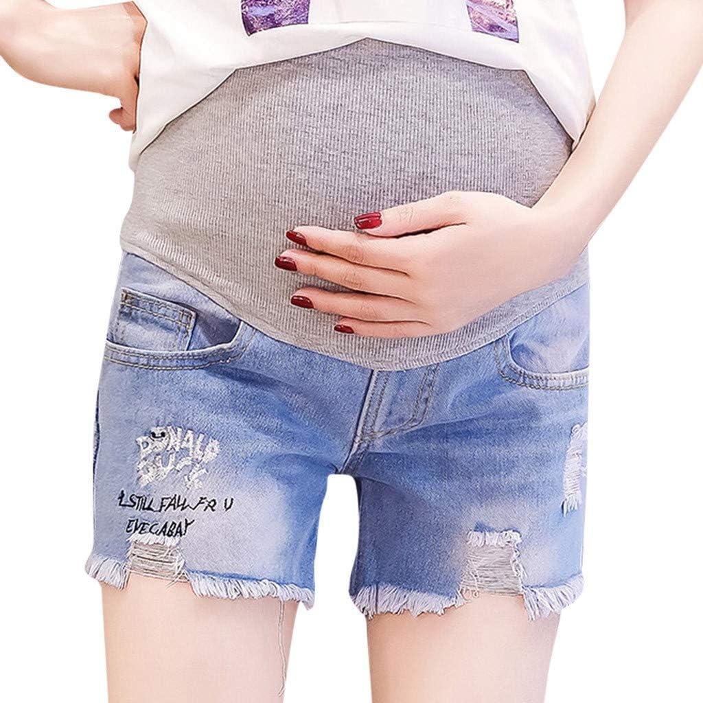Pantalones Vaqueros de Maternidad, elásticos, Cortos, Cintura Alta, premaman, Pantalones Cortos y alargadores, Extensibles, prenatal, Danza, Maternidad, Embarazo, Casual, premamá, Disfraz