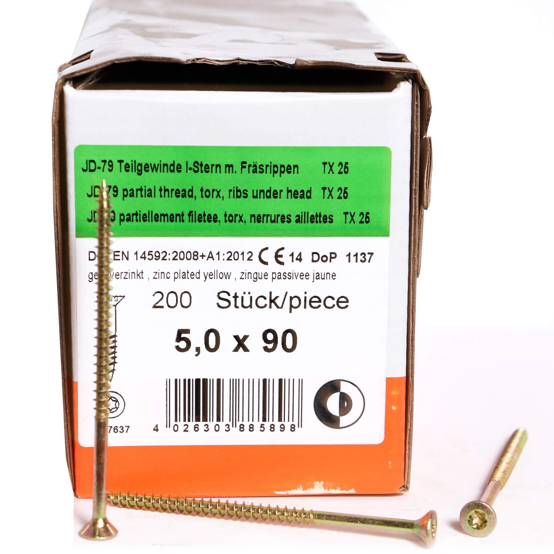 12x260 mm 25 St/ück DIN 571 Wiener Schraube verzinkt Belko Schl/üsselschrauben Sechskant Holzschrauben