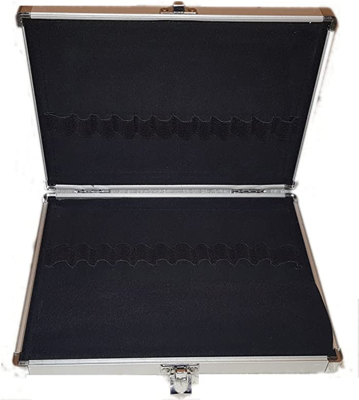 Pequeño estuche portalápices de aluminio - Estuche caja para 24 bolígrafos: Amazon.es: Relojes