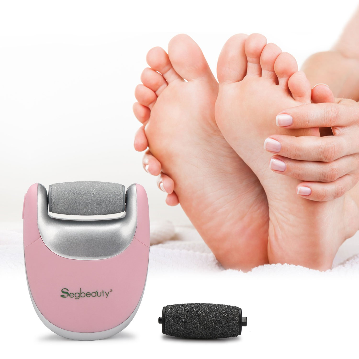 Segbeauty Elecric Callus Remover, Portable USB Rechargeable Pedicure Callus Instant Clear Remover, Travel Friendly, 2 Speeds Foot Care Callus Eliminator Foot File for Cracked Hard Dehisced Heels Skin by Segbeauty (Image #2)