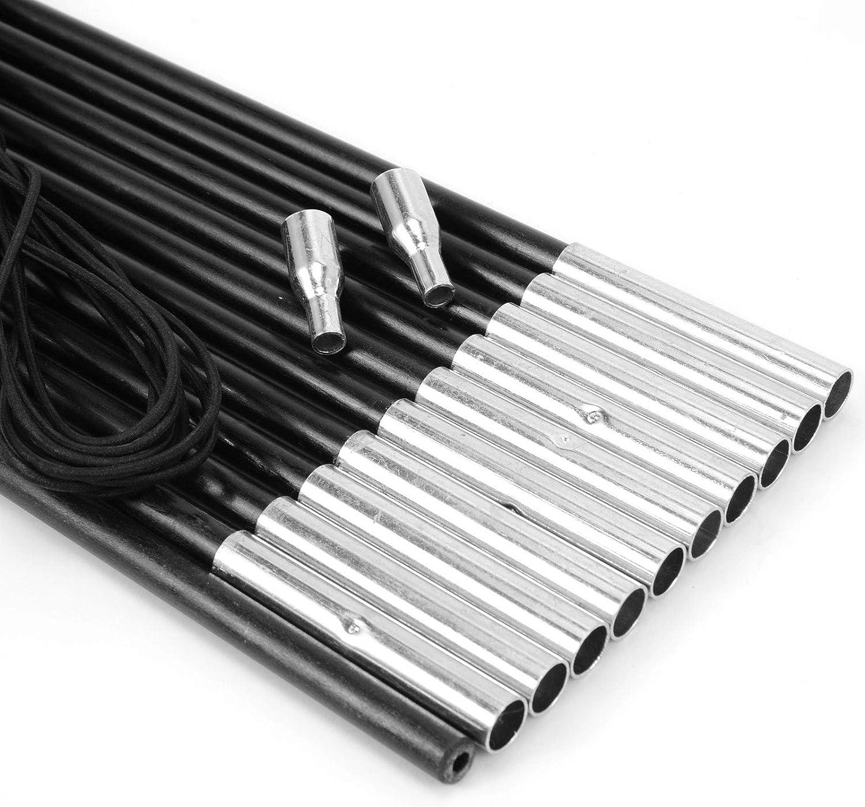 Kit de remplacement de fibre de verre pour arceaux pour r/éparation d/'auvent de tente/; 5,5/m x 9,5/mm/de couleur noire