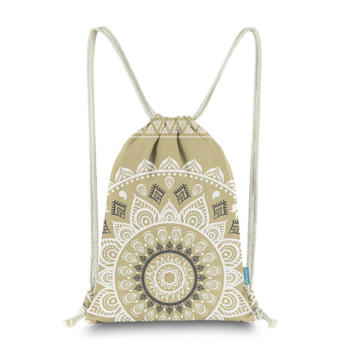 【テレビで話題】 miomao Drawstring Sackpack幾何プリントジムバックパック肩Cinchバッグ13