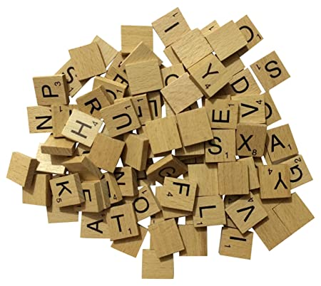 nmit wooden scrabble tiles full set of 100 craft board games