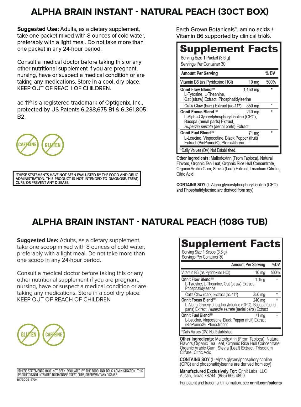 Amazon Com Onnit Alpha Brain Instant Nootropics Powder Clinically
