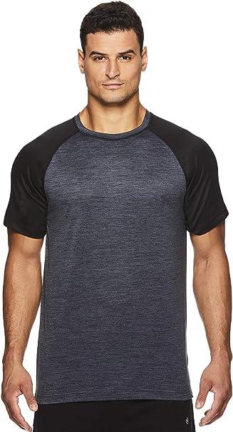 Amazon.com: Gaiam Raglan Camiseta de manga corta para hombre ...