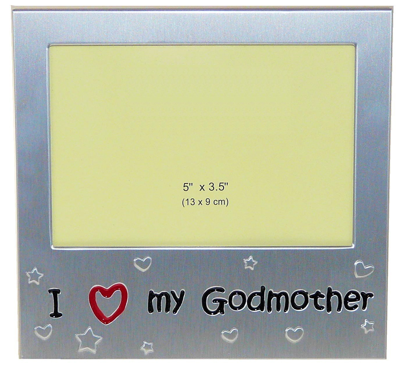 Amazon i love my godmother expressions photo picture amazon i love my godmother expressions photo picture frame gift 5 x 35 brushed aluminum satin silver color single frames jeuxipadfo Image collections