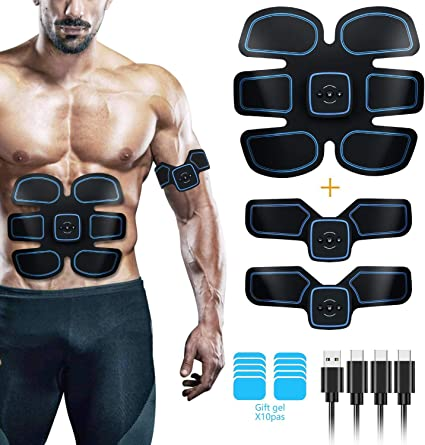 Electric Muscle Abdominal Toner Machine Fat Burner Belly Shaper ABS Toning Belt