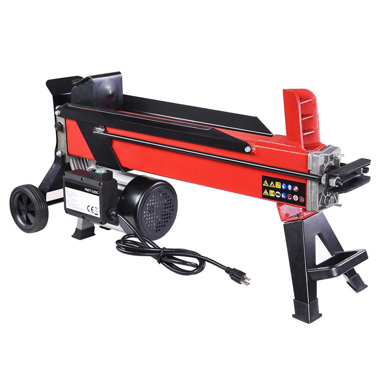 GC Global Direct Electrical Hydraulic Log Splitter 7 Ton Powerful Firewood Wood Kindling Cutter