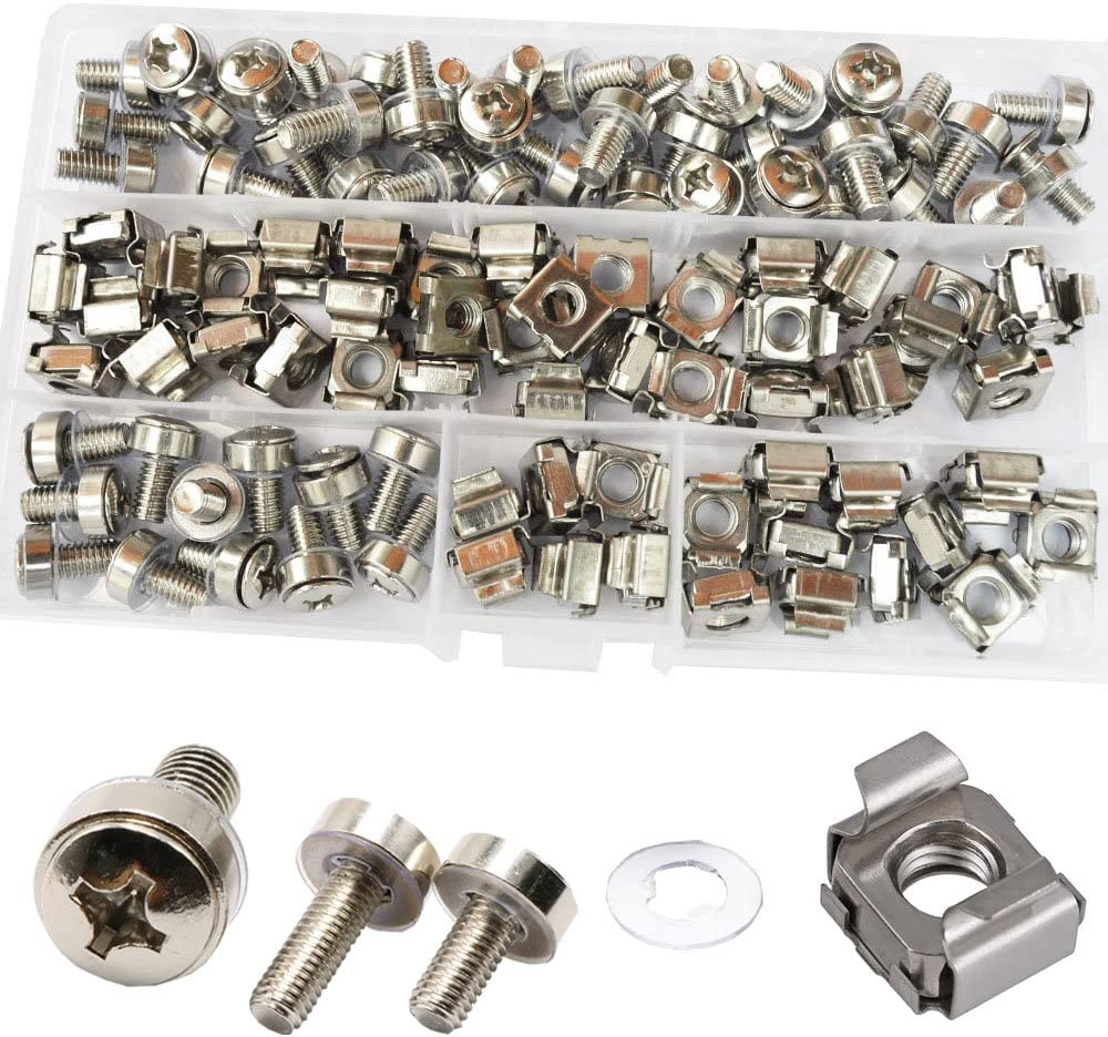Cage Nut And Screw Washers Square Hole Metric Hardware For Rack Mount Server She